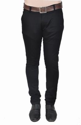 Nifty Slim Fit Men's Black Trousers