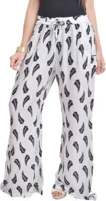 Adesa Regular Fit Women's White Trousers