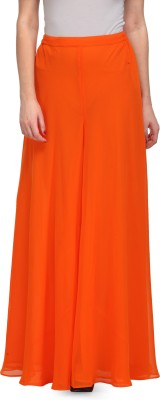 Just Wow Regular Fit Women's Orange Trousers