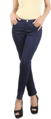 Klouden Skinny Fit Women's Dark Blue Trousers