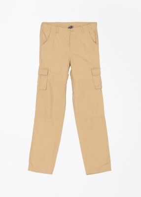 Cherokee Kids Slim Fit Boy,s Beige Trousers