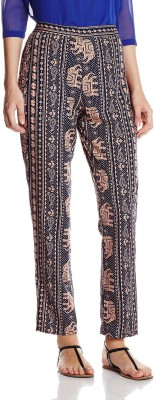 Atayant Regular Fit Women's Blue, Brown Trousers