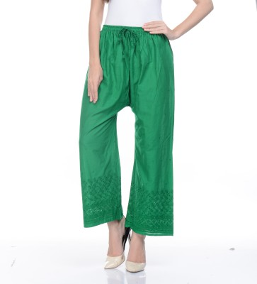 Awesome Regular Fit Women's Dark Green Trousers