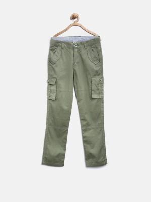 Yk Regular Fit Boy's Dark Green Trousers