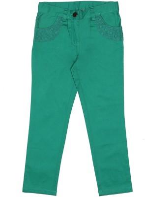Elle Regular Fit Girl's Green Trousers