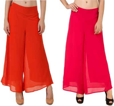 CHIKFAB Regular Fit Women's Orange, Pink Trousers