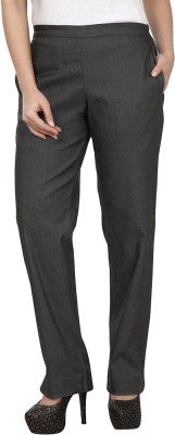 Le Luxe Slim Fit Women's Grey Trousers