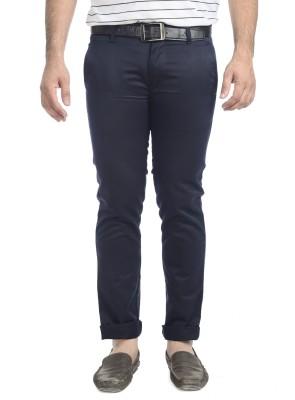 Blimey Slim Fit Men's Dark Blue Trousers