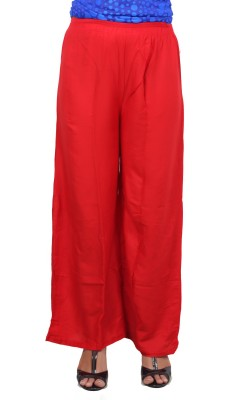 A33STORE Regular Fit Women's Red Trousers