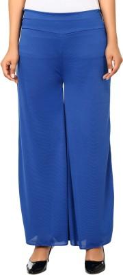 Haniya Regular Fit Women's Blue Trousers