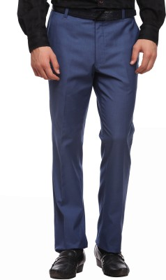 Luxurazi Slim Fit Men,s Blue Trousers