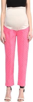 Mamacouture Regular Fit Women's Pink Trousers