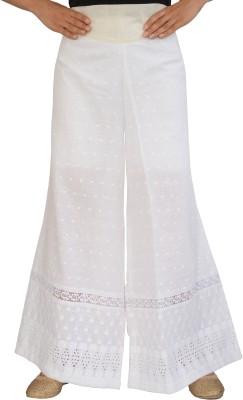 Jupi Regular Fit Women,s White Trousers