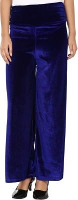 Shahfali Regular Fit Women's Blue Trousers