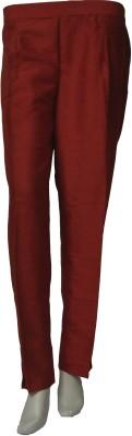 La Vastraa Regular Fit Women's Red Trousers