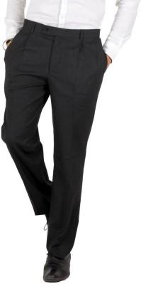 Follow Up Slim Fit Men's Black Trousers