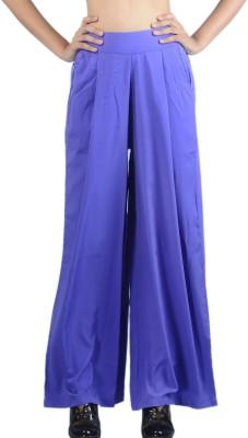 Klouden Regular Fit Women's Purple Trousers