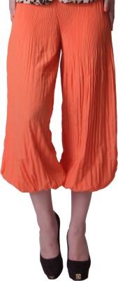 Trendy Divva Regular Fit Women's Orange Trousers