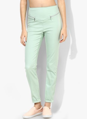 Vero Moda Regular Fit Women's Green Trousers