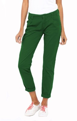 Altamoss Regular Fit Women's Green Trousers