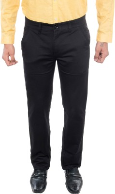 Grey Booze Slim Fit Men's Black Trousers