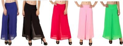 CHIKFAB Regular Fit Women's Blue, Black, Pink, Pink, Green Trousers
