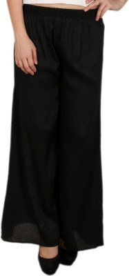 C/Cotton Comfort Regular Fit Women's Black Trousers