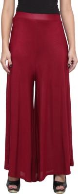 Both11 Regular Fit Women's Maroon Trousers