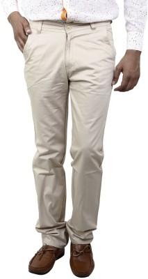 BlueTeazzers Regular Fit Men's Brown Trousers