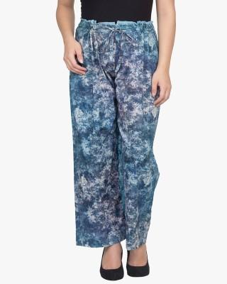 Citypret Regular Fit Women's Blue Trousers