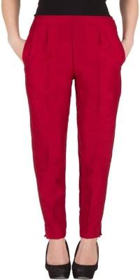 Komal Trading Co Slim Fit Women's Maroon Trousers