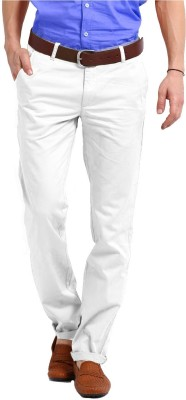 Perfect Regular Fit Men's White Trousers