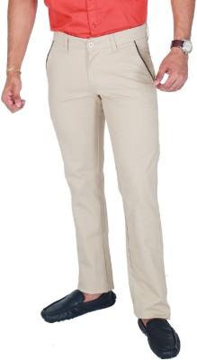 Awack Slim Fit Men's Beige Trousers