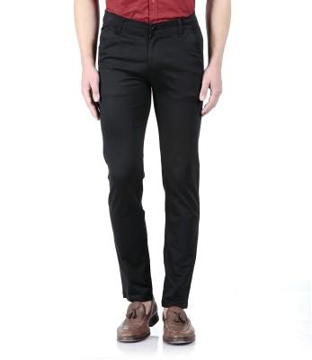 Flyjohn Slim Fit Men's Black Trousers