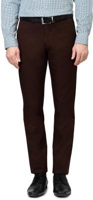 Allen Solly Regular Fit Men,s Brown Trousers