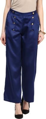 Yepme Regular Fit Women's Blue Trousers at flipkart