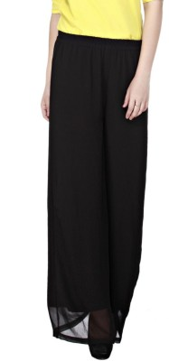 Cottinfab Regular Fit Women's Black Trousers at flipkart
