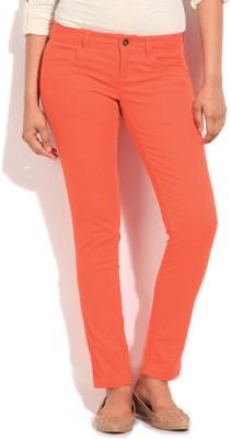United Colors of Benetton Regular Fit Women's Orange Trousers at flipkart