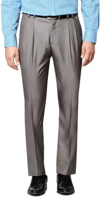 Van Heusen Regular Fit Men's Grey Trousers
