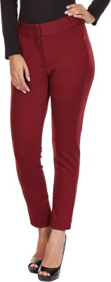 MARTINI Slim Fit Women's Red Trousers