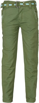 Generationext Regular Fit Baby Boy's Green Trousers