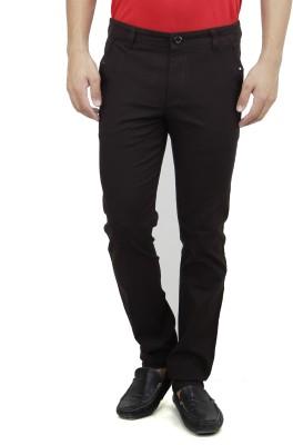 Savon Slim Fit Men,s Purple Trousers