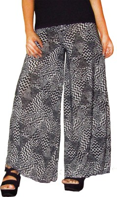 Srija's collection Regular Fit Women's Black, White Trousers