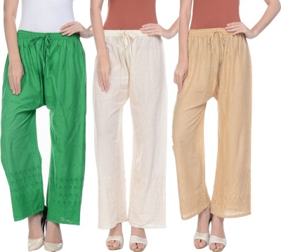 Stay Blessed Regular Fit Women's Cream, Beige, Green Trousers