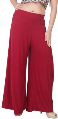 Fashionkala Regular Fit Women's Red Trousers