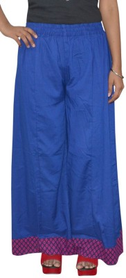 Pezzava Regular Fit Women's Blue, Red Trousers