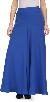 Just Wow Regular Fit Women's Blue Trousers