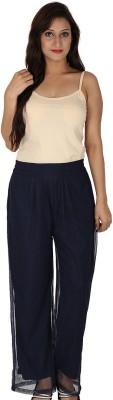 Dieu Regular Fit Women's Blue Trousers
