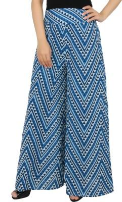 Desi Weaves Regular Fit Women's Dark Blue Trousers