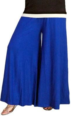 BikeNwear Regular Fit Women's Blue Trousers